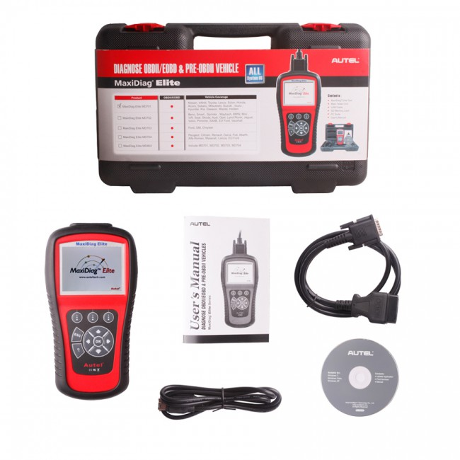 100% Original Autel MaxiDiag Elite MD702 Full System with Data Stream European Vehicle Diagnostic Tool