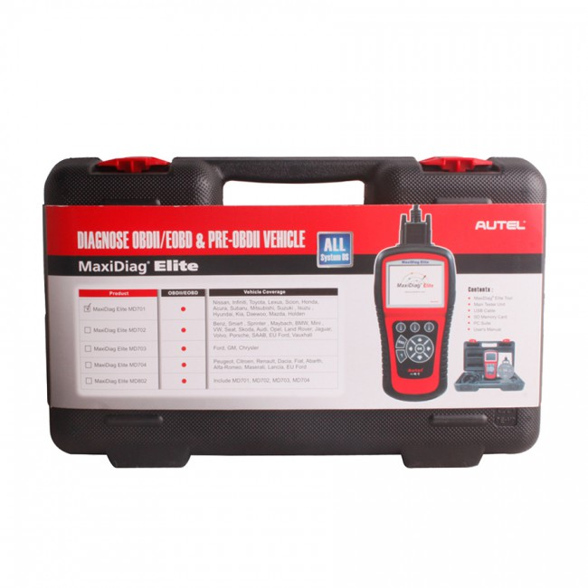 100% Original Autel MaxiDiag Elite MD703 Full System with Data Steam USA Vehicle Diagnostic Tool Update Online