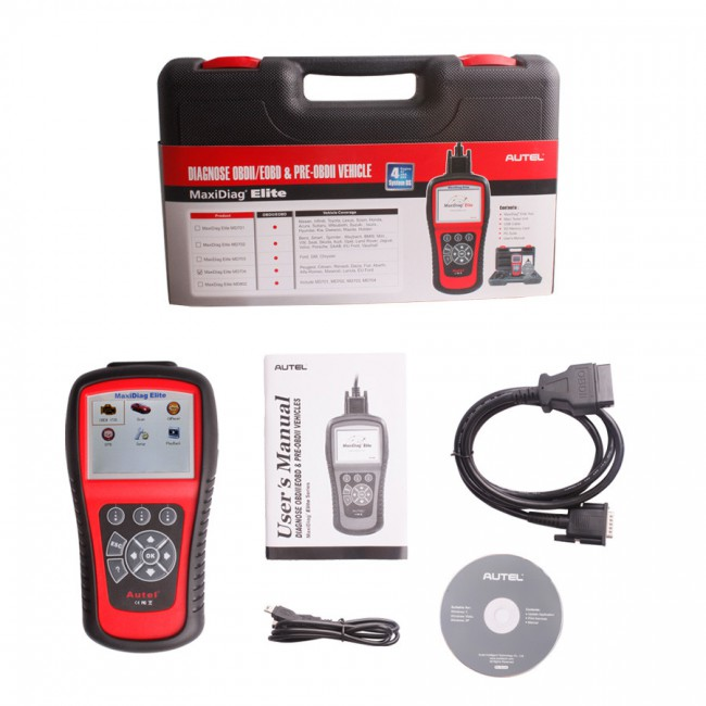 100% Original Autel MaxiDiag Elite MD704 Four System with Data Stream Update Online Shipping from UK