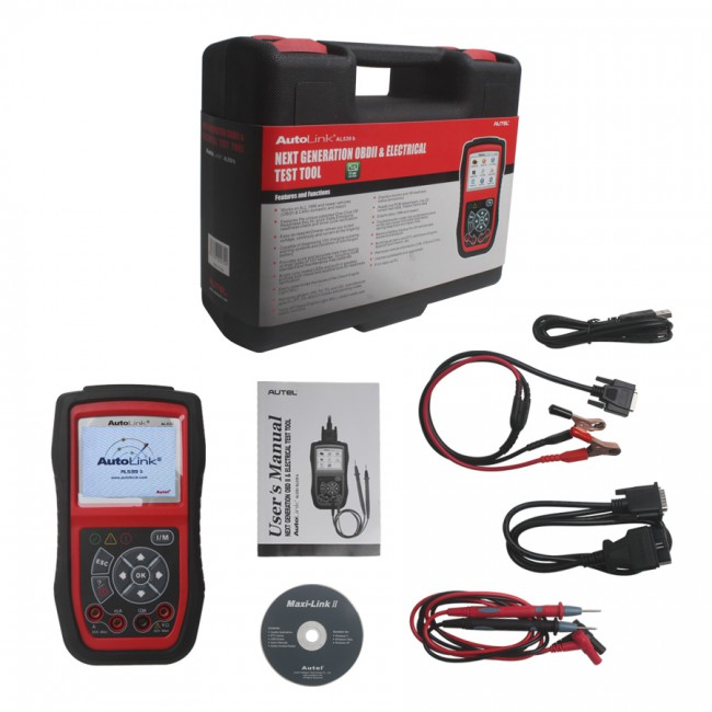 100% Original Autel AutoLink AL539B OBDII Code Reader & Battery Test Tool
