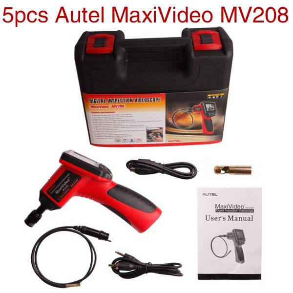 5pcs/lot Wholesale Price Autel MaxiVideo MV208 with 5.5mm Diameter Imager Head Inspection Camera Digital Videoscope