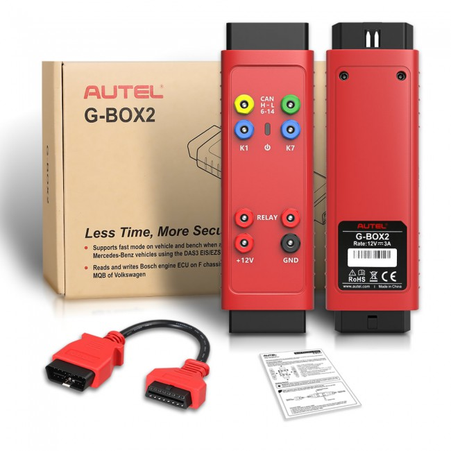 100% Original AUTEL G-BOX2 Tool for Mercedes Benz All Keys Lost Work with Autel MaxiIM IM608