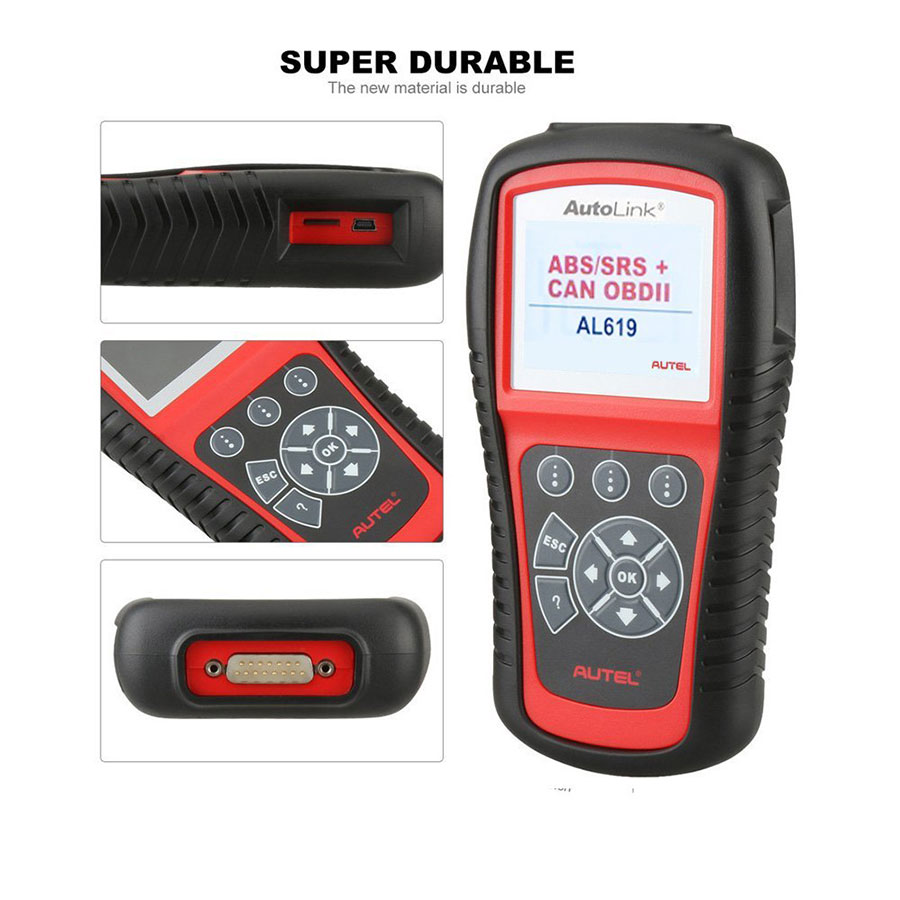[Flash Sale] [Ship from UK] 100% Original Autel AutoLink AL619EU ABS/SRS  OBDII CAN Diagnostic Tool Support Citroen/Peugeot Shipping from UK
