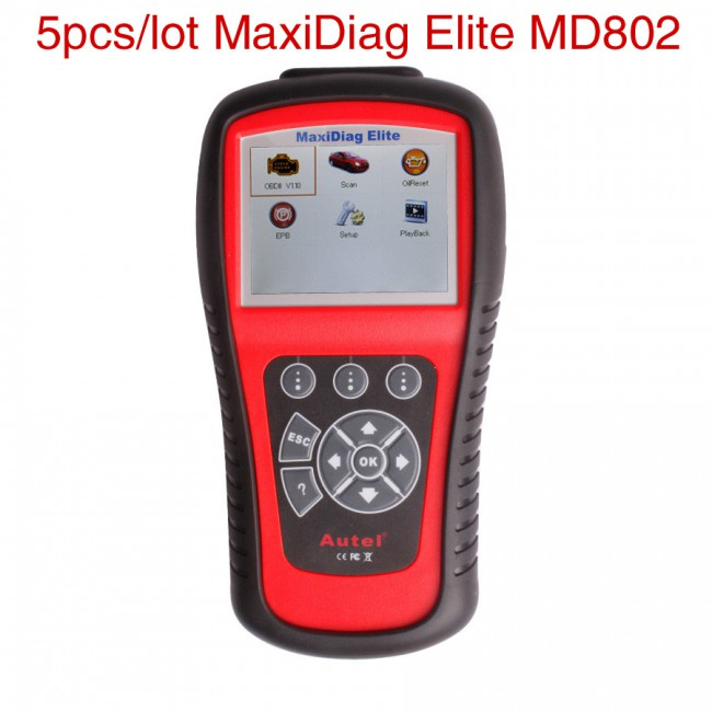 5pcs/lot Wholesale Price Autel MaxiDiag Elite MD802 Full System with Data Stream