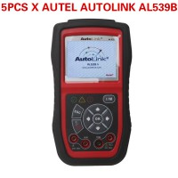 5pcs/lot Wholesale Price Autel AutoLink AL539B OBDII Code Reader & Battery Test Tool